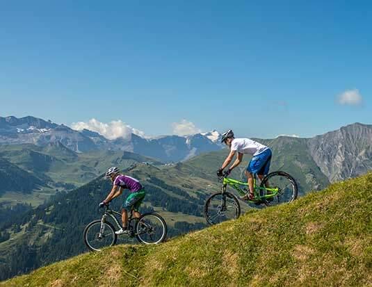 Biken in Adelboden