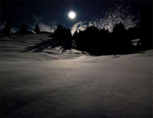 Vollmond Schneeschuhwanderung